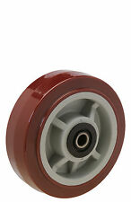 "Polyurethane Wheel: 8"" Diameter x 2"" Wide. Uboat Center Wheel. Roller Bearing."