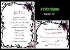 50 Halloween Custom Wedding Invitations Set Personalized  Halloween Party  98