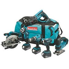 Makita DLX6017PM 18v 6 Piece Li-ion Cordless Tool Kit 3 x 4Ah Twin Port Charger