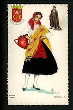 Embroidered clothing postcard Artist Elsi Gumier, Portugal Coimbra woman #5  (1)