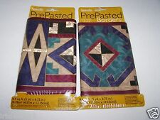 "Lot of 2-SOUTHWEST Aztec Wallpaper Decorative Wall BORDER-6.75""wide x 10yds"