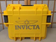 Invicta 3 Slot Impact Yellow Dive Storage Collector Waterproof Watch Case