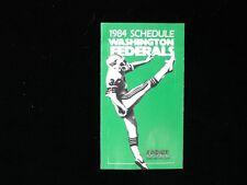 1984 USFL Washington Federals Pocket Schedule