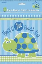 First (1st) Birthday (Boy) TURTLE 8 PARTY/LOOT BAGS (Celebration/Party)