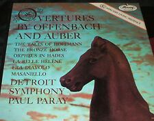 OVERTURES BY OFFENBACH AND AUBER Mercury Living Presence LP MG-50215 Paul Paray
