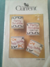 Current Christmas Counted Cross Stitch Napkin Rings Kit