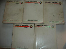 Detroit Diesel PARTS CATALOG In-Line InLine 71 Service Shop Manual MARINE  SET