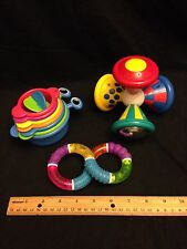 Lot Of 3 Baby Infant Toys 2007 Munchkin & 1993 TOMY GUC