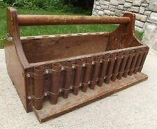 Primitive Tool Box vintage handmade Tote DIVIDERS COPPER PIPES Very Cool