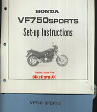Genuine Honda VF750 Sports (1982) Dealers Set-Up Manual VF 750 S RC07 V45 Sabre