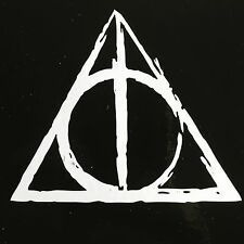 HARRY POTTER DEATHLY HALLOWS vinyl car or computer decal!