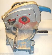 VINTAGE SOLID BUILT RYOBI 10' MITER SAW MODEL:TS-251U DOUBLE INSULATED w BLADE