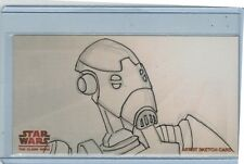 """2009 TOPPS STAR WARS THE CLONE WARS ARTIST SKETCH CARD BY DAVE """"POPS"""" TOTO"""