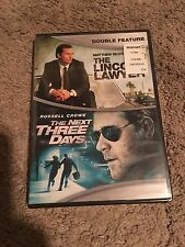 THE LINCOLN LAWYER/THE NEXT THREE DAYS, DVD, NEW