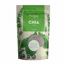Produza Chia Seeds Premium White - 8 oz - NON GMO, NSF and Kosher Certified