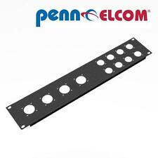 2U PENN ELCOM Rack Pannello punzonati 4 x 8 PIN 8 x 4 Pin Speakon r1273mpr / 2UK 19 ""