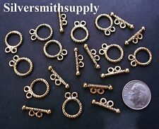 10 Rope toggle jewelry clasp sets 2 strand gold plated necklace bracelets fpc207