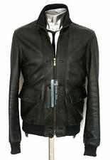 Yves Saint Laurent Black Leather Bomber Jacket EU46 Small Medium RRP £980 YSL