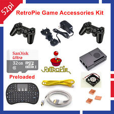 Raspberry Pi 3 Model B 32GB RetroPie Game Accessories Kit Wireless Controllers