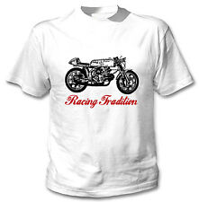 AERMACCHI ALA D`ORO INSPIRED RACING TRADITION P - NEW WHITE COTTON TSHIRT