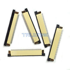 5 Pcs FFC/FPC Flexible Flat Cable Connector Terminal 50 Pin 0.5mm Pitch ZIF Type