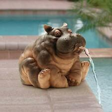 Hippopotamus Garden Spitting Hippo Piped Statue Fish Pond Spitter Sculpture