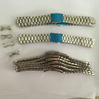 Solid Stainless Steel Watch strap Band Bracelet Curved End 18mm 20mm 22mm choose
