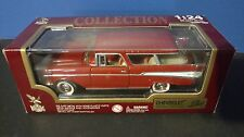 1957 Chevrolet Nomad Bel-Air Red 1/24 Scale Diecast Car Road Legends