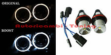 2 LAMPADE LED MODIFICA LUCE 6000K 3W FARI ANGEL EYES BMW SERIE 1 E87 S 6 E65 E66