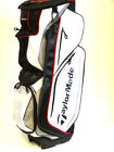 """TaylorMade 2015 Catalina Cart Bag White/Silver/Black/Red """"Make Offer!"""" NEW 6411"""