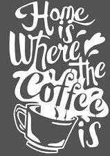 SHABBY CHIC VINTAGE STENCIL SCHABLONE COFFEE KAFFEE MÖBEL WAND TEXTIL GARDINEN