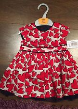 Girls GORGEOUS Red Party Dress BNWT AGE 9-12 Months MATALAN