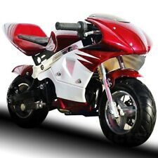 NEW Red Gas Pocket Bike 40cc 4 Stroke Mini Ninja Honda Clone Super Bike