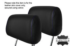 PURPLE STITCH 2X FRONT HEADREST LEATHER SKIN COVERS FITS BMW 3 SERIES E36 92-99