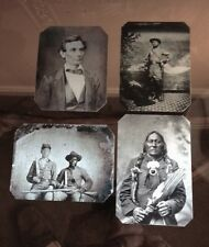 Lot of 4 Civil War Tintype's Including Lincoln and a Native American Image 52NP