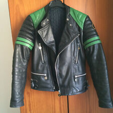 Vintage Moto Cuir Paris cafe racer biker Nerve leather jacket black 36 38 small