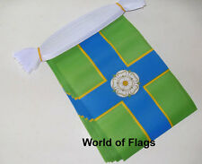NORTH RIDING of YORKSHIRE FLAG BUNTING 9m 30 Fabric Party Flags English County
