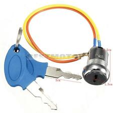 2 Wires Ignition Key Switch Lock 2 Key Mini Kart ATV Dirt Electric Scooter Bike