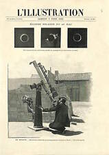 Elche Elx Astronomer Telescope Eclipse Spain ANTIQUE PRINT 1900