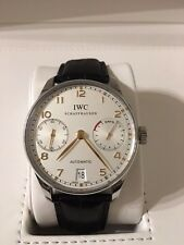 IWC Portuguese 7-Day IW5001-14 Automatic 42mm Steel Strap Watch Power Reserve