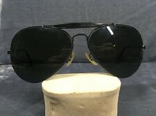 Vintage B&L Ray Ban Black Classic Outdoorsman Aviator 62-14MM Sunglasses 018