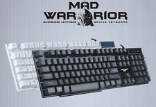 UK Mad Warrior GX50 Ergonomic Usb Wired PC Gamer Gaming Keyboard Non Mechanical