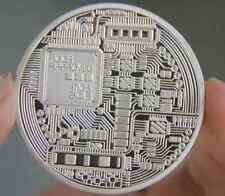 Silver Plated Iron Bitcoin Coin Perfect  Money Collection Art Souvenir Gift Mo