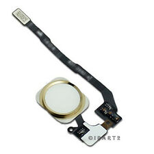 Touch ID Sensor Home Button Key Flex Cable Ribbon Assembly for iPhone 5S (Gold)