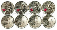 Canada 8 Quarters set 2012-2013 War of 1812 year UNC  (#723)