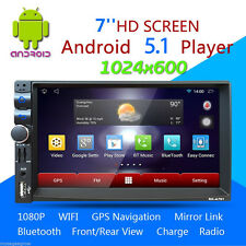 "Android 5.1 7"" Double 2Din Car Radio Stereo DVD Player GPS Nav 3G/WiFi/FM/AM/US"