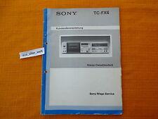 SERVICE MANUAL SONY  TC FX6 DEUTSCH Kundendienstanleitung