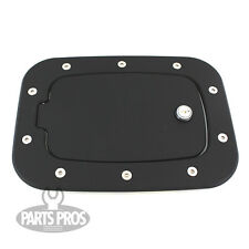 NEW Flat Black Locking Gas Fuel Door / FOR FORD F250 F350 SUPERDUTY 2011-2014