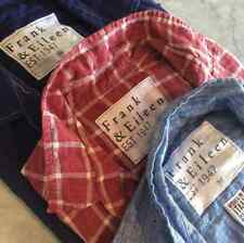 FRANK & EILEEN BARRY LINEN PLAID SHIRT MEDIUM