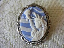 Statue of Liberty Patriotic 3D Cameo Pin Brooch Pendant CHRISTMAS CLEARANCE SALE